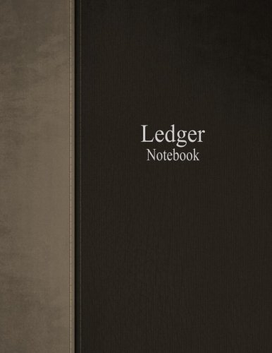 Ledger Notebook: Columnar Ruled Ledger, 3 Columns, 8.5×11 Inches, 100 Pages