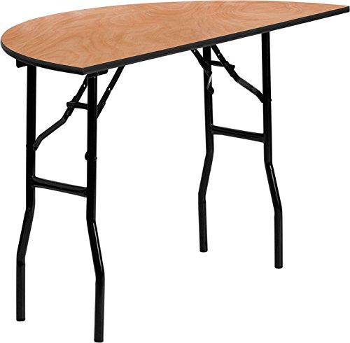 Folding Top Table Half Round (Flash Furniture 48'' Half-Round Wood Folding Banquet Table)