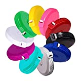 Tape Measure Push Button Soft Retractable Handy Pocket Tape Measure Double-Sided Tailor's Measuring Tape 150 cm 60 Inch 10 Colors Package by BUSHIBU