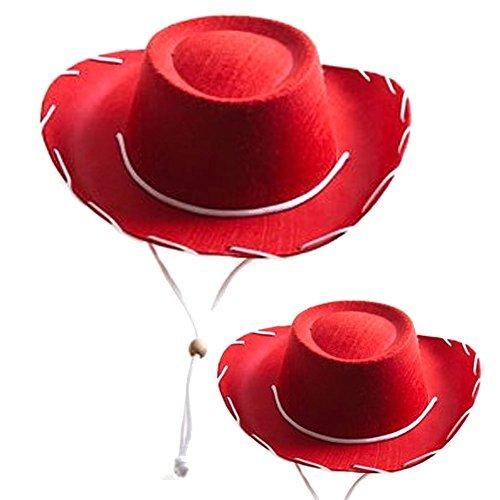Children's Red Felt Cowboy Hat (2 Pack) -