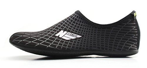NBERA by 2econdskin Durable Outsole Barefoot Water Skin Shoes for Beach Swim Surf Yoga Exercise XL...