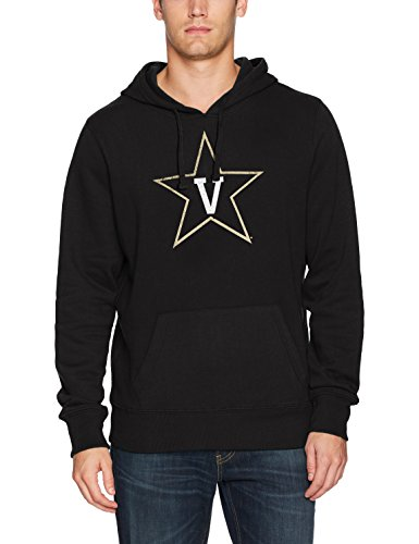NCAA Vanderbilt Commodores Men's Ots Fleece Hoodie Distressed, Small, Jet Black Black Classic College Crew Fleece