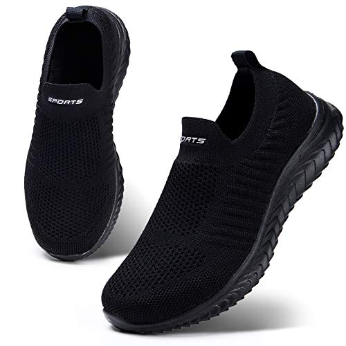 HKR Womens Slip on Trainers Comforble Walking Work Shoes with Memory Foam