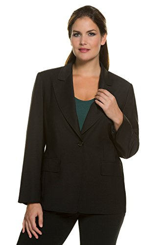 Ulla Popken Women's Plus Size Wool Blend Blazer Black 26 705763 10