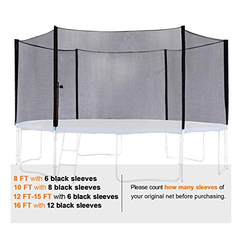 ExacMe Replacement Netting Outer Safety Net Without Poles for T-Series 10ft-16ft Trampoline-Net Only 6180 EN10T-EN16T (Fit Exacme T-Series 16ft) by Exacme (Image #4)