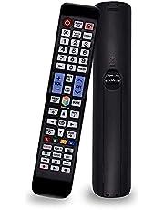 ريموت كنترول عالمي لتلفزيون سامسونج متوافق مع جميع موديلات تلفزيون سامسونج سمارت LCD وLED وQLED وSUHD والترا اتش دي وبلازما و4K وثلاثي الابعاد وHDTV مع ازرار اضاءة خلفية لامازون ونتفليكس