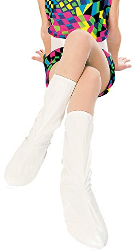 Rubies Groovy White Go-Go Boot Tops for Children,Small (White Gogo Boots For Kids)