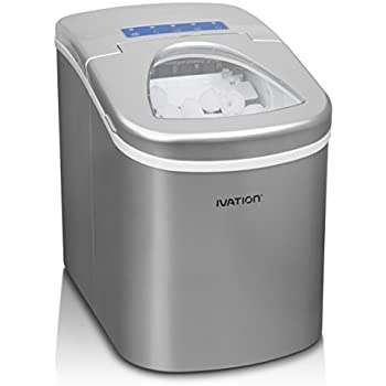 Captivating Ivation IVA ICEM15SIL Portable Ice Maker With Easy Touch Buttons For  Digital Operation,