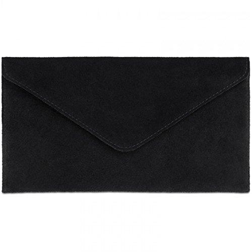 Clutch Women Black TL708 CASPAR Envelope 5FvqYntxw