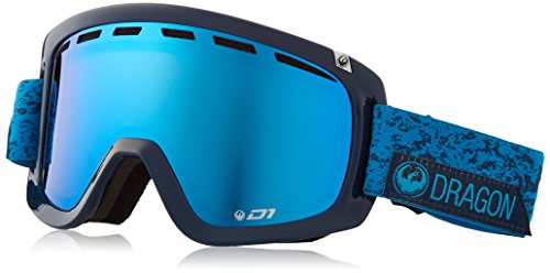 Dragon Alliance D1 OTG Stone Ski Goggles, Blue (Dragon D1 Lenses)