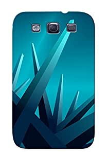 Crazinesswith Case Cover For Galaxy S3 - Retailer Packaging Blue Crystals Protective Case