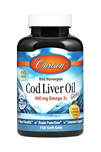 Norwegian Cod Liver Oil Lightly Lemon 150 softgels