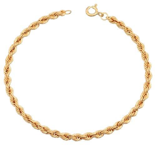 Orleo - REF1756BB : Bracelet Femme Or 18K jaune - Maille Corde
