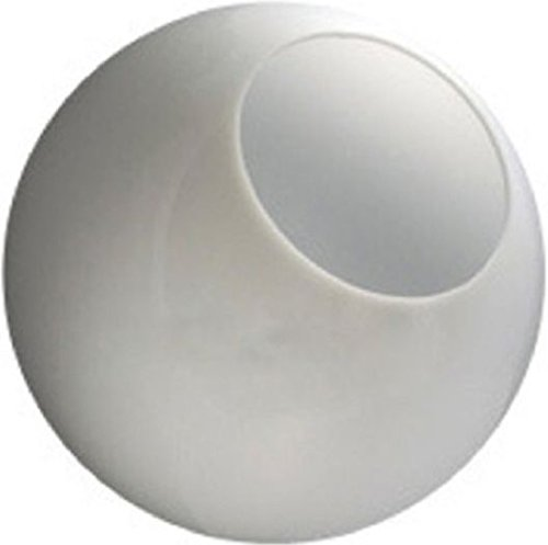 16 Inch White Acrylic Lamp Post Globe with 5.25 Inch Neckless Opening