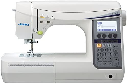 JUKI máquina de Coser electrónica con cortaalambres automático commandé con Pedal, Metal, Color Blanco, 51 x 25,7 x 30,5 cm: Amazon.es: Hogar