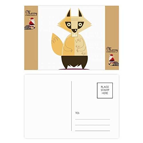 Fox Fear Halloween Ghost Happy Santa Claus Gift Postcard Thanks Card Mailing 20pcs]()