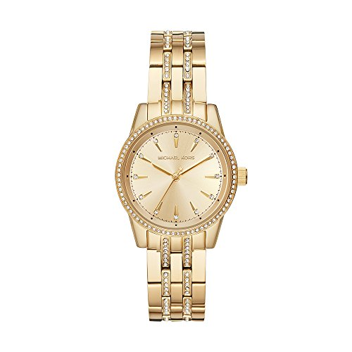 Michael Kors MK3909 Mini Ritz Pavé - Reloj Análogo con Movimiento de Cuarzo para Mujer, Caja de Acero Inoxidable, Cristal...