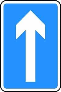 300x 450mm–Dibond–flecha Vertical–carretera señal de seguridad–con Post canal de montaje