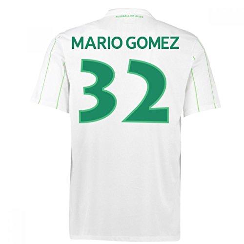主権者帽子師匠2016-17 Vfl Wolfsburg Away Shirt (Mario Gomez 32)