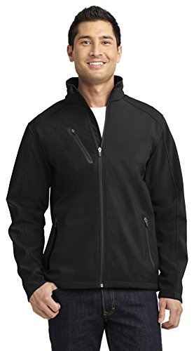 Port Authority Welded Soft Shell Jacket, Black, XX-Large