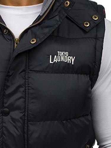 Laundry BOLF Sudadera 6794 Capucha Negro con Chaleco Mangas sin Acolchada Tokyo Bqqrwxz65