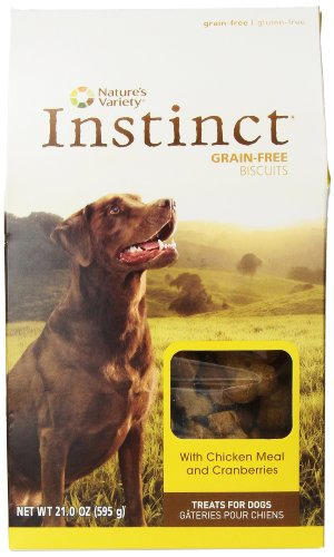 Instinct Grain-Free Chicken Meal and Cranberry Dog Biscuits, 21-Ounce Package