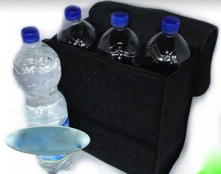 schwarze Filz Kofferraumtasche Werkzeugtasche mit Klett 26 x 14,5 x 33cm schwarz