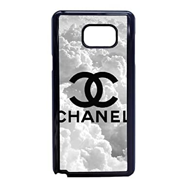 timeless design 0f8d7 1c7ae Samsung Galaxy Note 5 Cell Phone Case Black CHANEL F6702175: Amazon ...