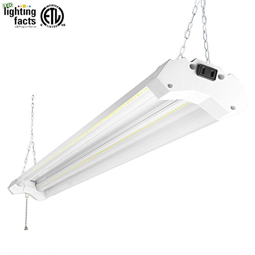 Hykolity 4ft 40w led shop garage hanging light fixture 4800 lumens 5000k daylight white linkable 64w fluorescent equivalent with 1.5 times light output  sc 1 st  Amazon.com & Shop LED Lighting: Amazon.com azcodes.com