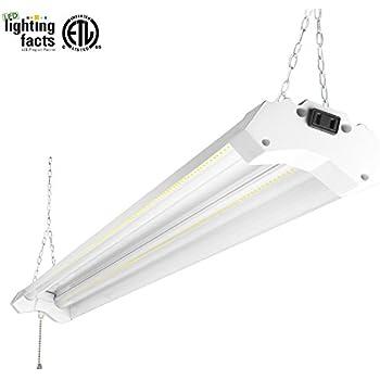 Hykolity 4ft 40w led shop garage hanging light fixture 4800 lumens 5000k daylight white linkable 64w  sc 1 st  Amazon.com & Hykolity 4ft 40w led shop garage hanging light fixture 4800 lumens ... azcodes.com