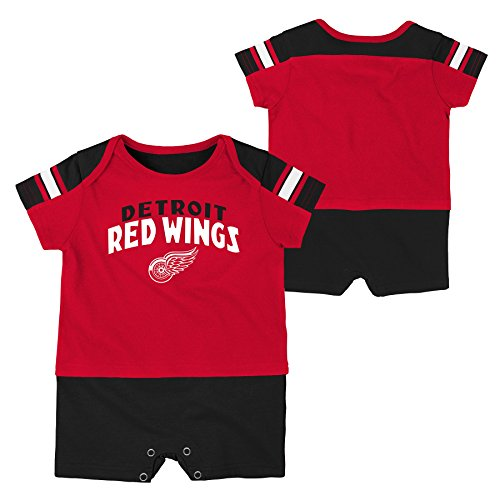 NHL Detroit Red Wings Boys Newborn & Infant 'Little Brawler' Jersey Romper, Red, 3-6 Months