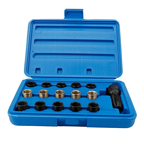 Estink Spark Plug Thread Repair Kits, 16Pcs Spark Plug Tap Thread Repair Tools Rethreading Kit