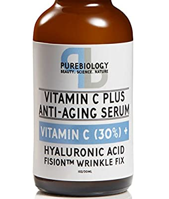 """C Plus"" Highest Concentrate Vitamin C Serum (30%) with Hyaluronic Acid & Breakthrough Anti Wrinkle Complex - 100% Natural, Total Anti Aging Serum For Face & Eyes (1 oz.)"