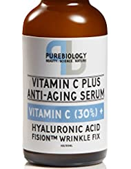 """C+ Plus"" Highest Concentrate 30% Vitamin C Serum with Hyaluronic Acid, Vitamin E and Breakthrough Aging Complex - Complete Anti Aging Serum For Face & eyes (1 oz.)"