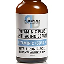 """""""C+ Plus"""" Highest Concentrate 30% Vitamin C Serum with Hyaluronic Acid, Vitamin E and Breakthrough Aging Complex - Complete Anti Aging Serum For Face & eyes (1 oz.)"""