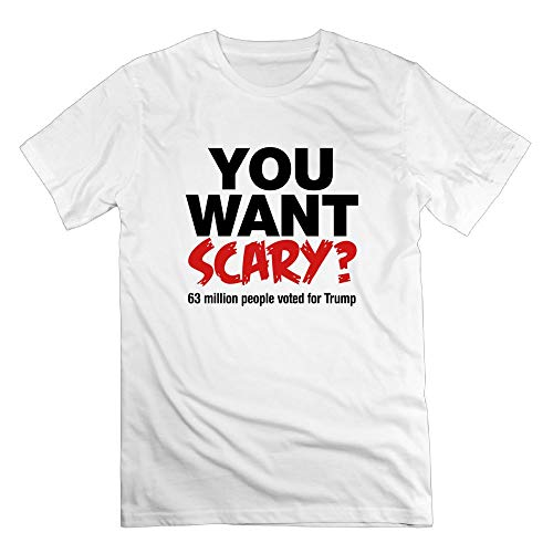 TangChuan Men's You Want Scary 63 Million People Voted for Trump Halloween Funny T-Shirt ()