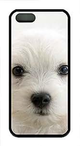 iPhone 5 5S Case Cute puppy TPU Custom iPhone 5 5S Case Cover Black
