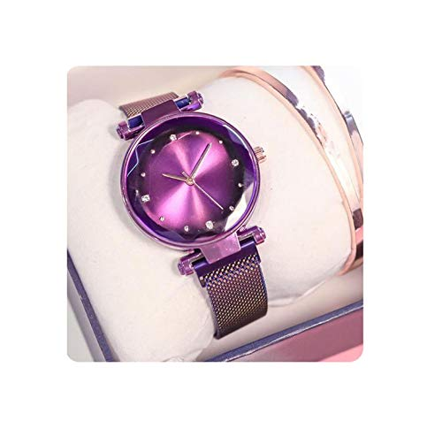 (Magnetic Force Creative Band Women Quartz Watches Ladies Wristwatches Watch No)