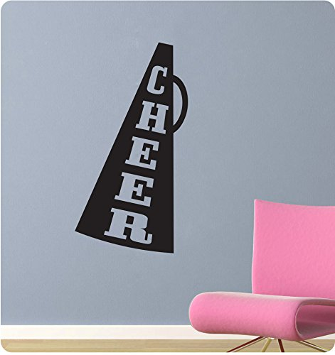 24-cheer-megaphone-cheerleader-sports-girl-school-spirit-wall-decal-sticker-art-mural-home-dcor-quot