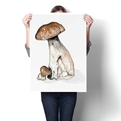 Anshesix Canvas Wall Art Wild Forest Mushrooms Frameless Can
