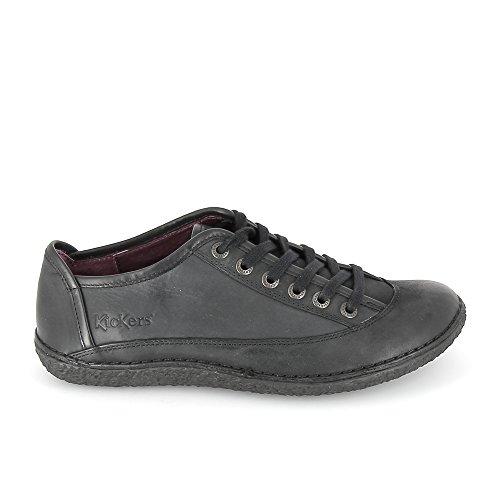 Cordones Mujer Kickers Para De Zapatos Negro qPIOE