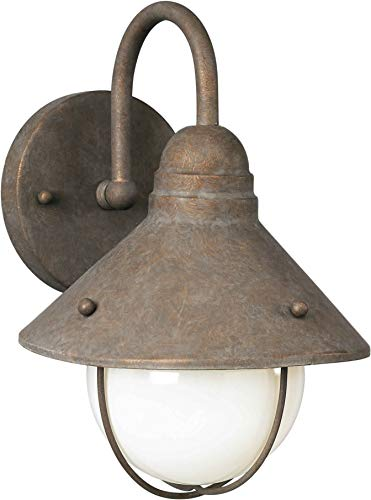 Forte Lighting 1041-01 Outdoor Wall Sconce from the Exterior Lighting Collection, Desert Stone