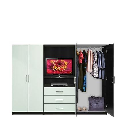 Amazoncom Aventa Bedroom Wall Unit Tv Unit W Drawers And Doors