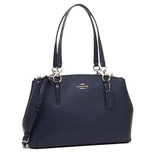 Leather Christie Carryall Crossgrain Coach in Midnight Y8zRq8Hx