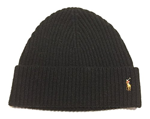 Polo Ralph Lauren Men's Skull Cap Beanie Hat, Black, One Size ()