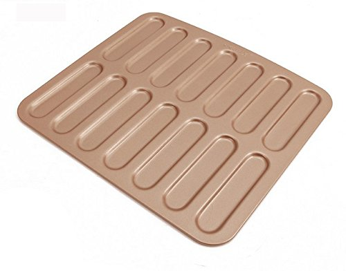 Eclair Baking Pan Non Stick Eclair lightning Mould Gold Novelty Cake Pan