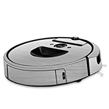 MightySkins Skin Compatible with iRobot Roomba i7 Robot Vacuum - Cold Steel   Protective, Durable, and Unique Vinyl Decal wrap Cover   Easy to Apply, Remove, and Change Styles   Made in The USA