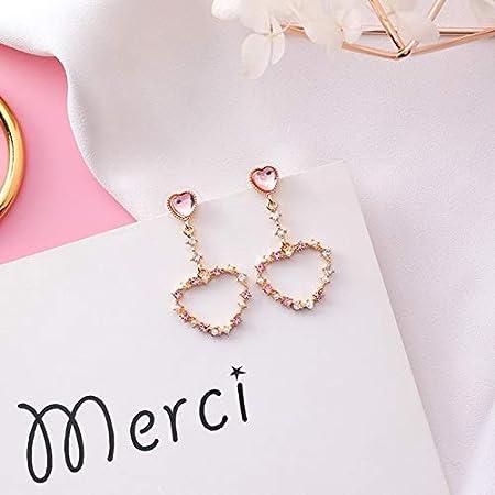 NDMPL Corea S925 Stering Zilver Opaal Liefde Hart Vlinder Cirkel Krans Crystal Bloem Kleine Stud Oorbellen Voor Vrouwen Meisje