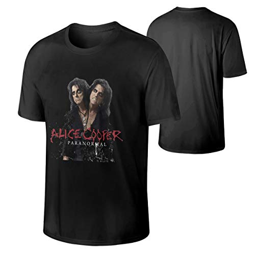 Alice Cooper Man's Comfortable Short Sleeve Cotton T Shirt Black 4XL for $<!--$14.98-->