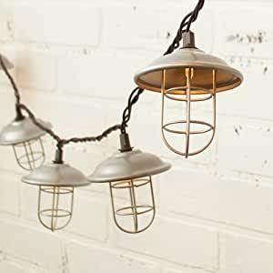 Amazon.com : 2 PACK-String Lights, Nautical Cage, 6 Feet, Outdoor, Plug In, Warm White : Garden ...